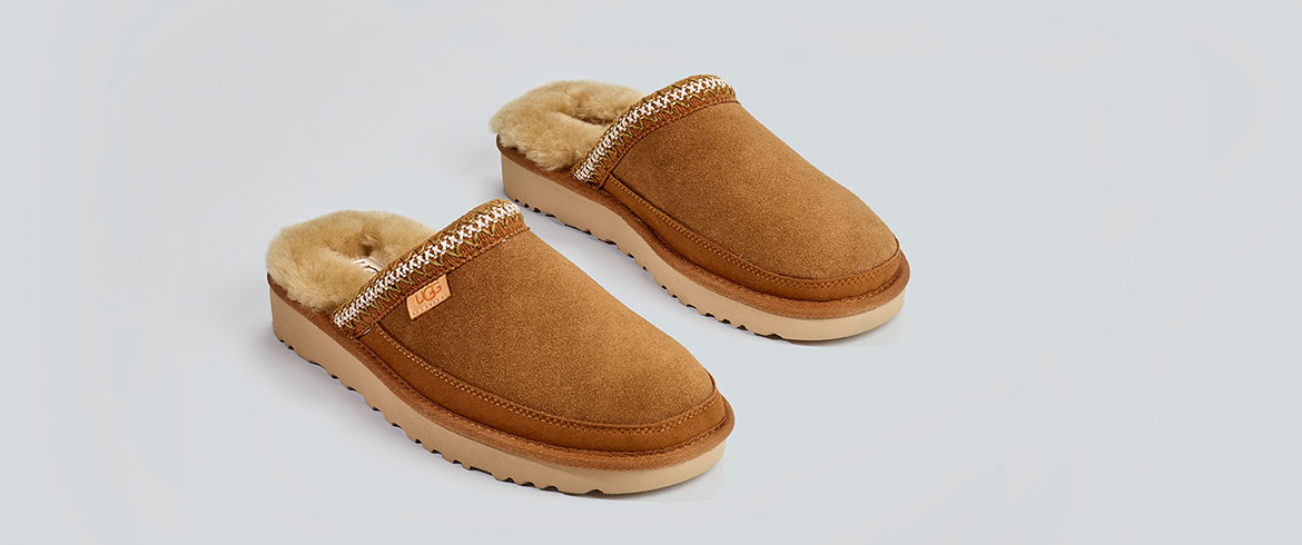 Mens UGG Sheepskin Slippers