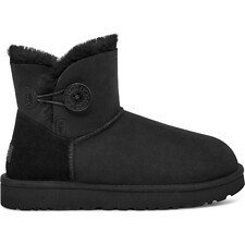 Image of UGG BLACK MINI BAILEY BUTTON II