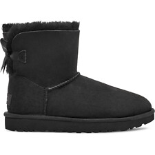 Image of UGG BLACK MINI BAILEY BOW II