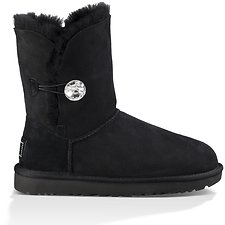 Image of UGG BLACK BAILEY BUTTON BLING
