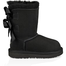 Image of UGG BLACK TODDLERS BAILEY BOW
