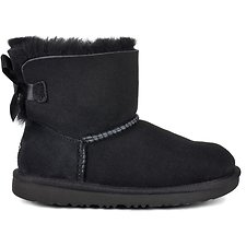 Image of UGG BLACK TODDLERS MINI BAILEY BOW II