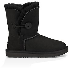 Image of UGG BLACK KIDS BAILEY BUTTON II