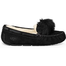 Image of UGG BLACK DAKOTA POM POM
