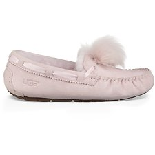 Image of UGG SEASHELL PINK DAKOTA POM POM