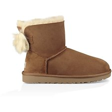 Image of UGG CHESTNUT FLUFF BOW MINI