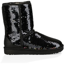 Image of UGG BLACK CLASSIC SHORT SEQUIN