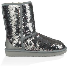 Image of UGG SILVER CLASSIC SHORT SEQUIN