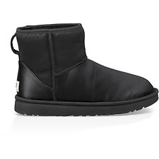 Image of UGG BLACK CLASSIC MINI SATIN