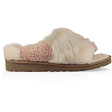 Image of UGG CHESTNUT PATCHWORK FLUFF SLIDE