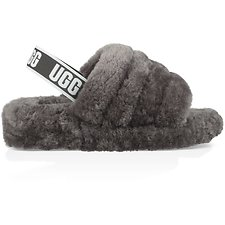 Image of UGG CHARCOAL FLUFF YEAH SLIDE