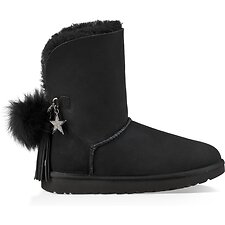 Image of UGG BLACK CLASSIC CHARM BOOT