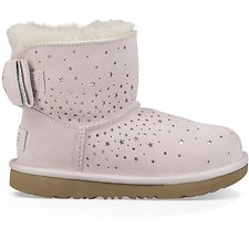 Image of UGG BABY PINK TODDLERS STARGIRL CLASSIC MINI II BOW