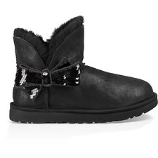 Image of UGG BLACK MINI SEQUIN BOW