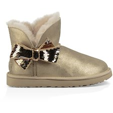 Image of UGG GOLD MINI SEQUIN BOW