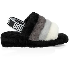 Image of UGG BLACK FLUFF YEAH SLIDE