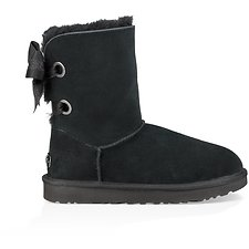 Image of UGG BLACK CUSTOMIZABLE BAILEY BOW SHORT