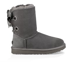 Image of UGG CHARCOAL CUSTOMIZABLE BAILEY BOW SHORT