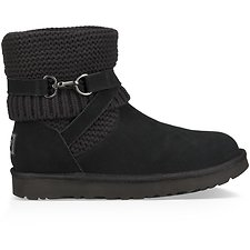 Image of UGG BLACK PURL STRAP BOOT