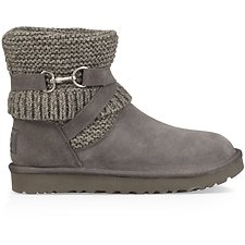Image of UGG CHARCOAL PURL STRAP BOOT
