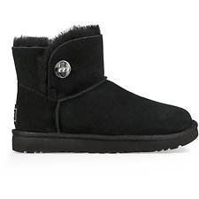 Image of UGG BLACK MINI TURNLOCK BLING