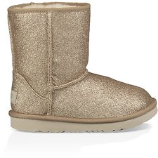 Image of UGG GOLD TODDLERS CLASSIC SHORT II GLITTER