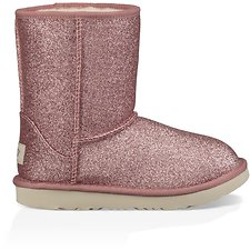 Image of UGG PINK TODDLERS CLASSIC SHORT II GLITTER
