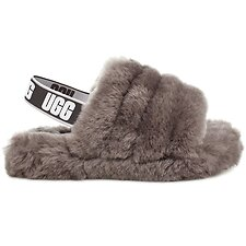 Image of UGG CHARCOAL KIDS FLUFF YEAH SLIDE