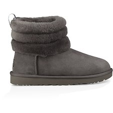 Image of UGG CHARCOAL FLUFF MINI QUILTED