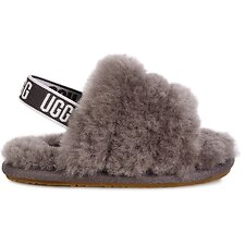 Image of UGG CHARCOAL INFANTS FLUFF YEAH SLIDE