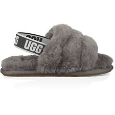 Image of UGG CHARCOAL TODDLER FLUFF YEAH SLIDE