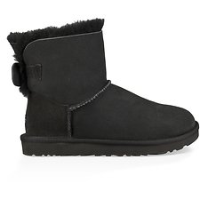 Image of UGG BLACK SPARKLE BOW MINI