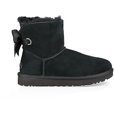 Image of UGG BLACK CUSTOMIZABLE BAILEY BOW MINI