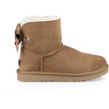 Image of UGG CHESTNUT CUSTOMIZABLE BAILEY BOW MINI