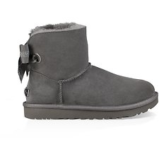 Image of UGG CHARCOAL CUSTOMIZABLE BAILEY BOW MINI