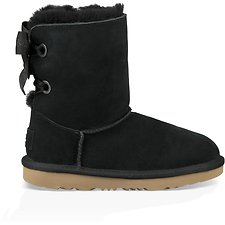 Image of UGG BLACK KIDS CUSTOMIZABLE BAILEY BOW