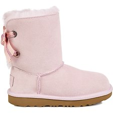 Image of UGG SEASHELL PINK KIDS CUSTOMIZABLE BAILEY BOW