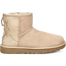 Image of UGG GOLD CLASSIC MINI METALLIC SNAKE