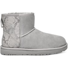 Image of UGG SILVER CLASSIC MINI METALLIC SNAKE