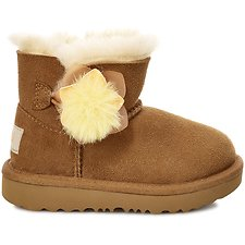 Image of UGG CHESTNUT KIDS MINI BAILEY II CACTUS FLOWER