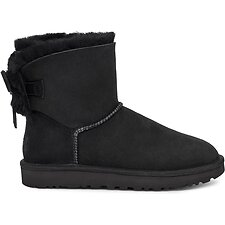 Image of UGG BLACK CLASSIC DOUBLE BOW MINI