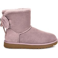 Image of UGG PINK CRYSTAL CLASSIC DOUBLE BOW MINI