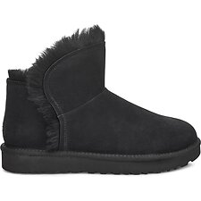 Image of UGG BLACK CLASSIC MINI FLUFF HIGH-LOW
