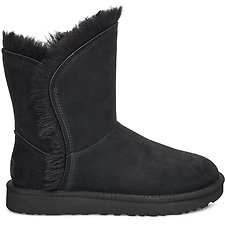 Image of UGG BLACK CLASSIC SHORT FLUFF HIGH-LOW