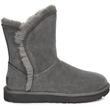 Image of UGG CHARCOAL CLASSIC SHORT FLUFF HIGH-LOW