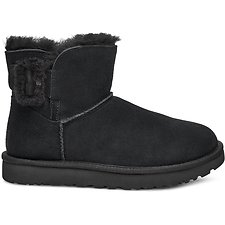 Image of UGG BLACK MINI BAILEY FLUFF BUCKLE