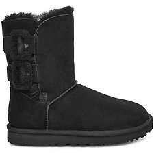 Image of UGG BLACK BAILEY FLUFF BUCKLE