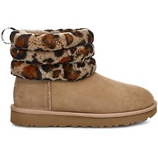 Image of UGG LEOPARD AMPHORA FLUFF MINI QUILTED