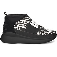 Image of UGG BLACK/WHITE NEUTRA SNEAKER GRAFFITI POP