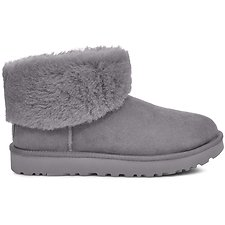 Image of UGG CHARCOAL CLASSIC MINI FLUFF